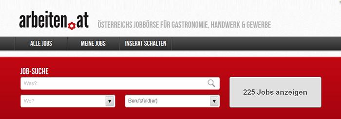 Blog: Arbeiten.at, Neue Jobbörse für Gastronomie, Handwerk und Gewerbe online